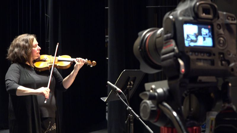 "Dawn Lindsey is recorded as she plays music from ""A Longfellow Evening"" for the concerts' 100th..."