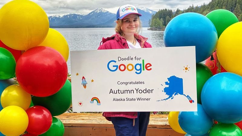 Autumn Yoder is representing the state of Alaska is the Doodle for Google contest.