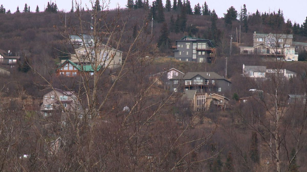Many of the houses in Anchorage's Hillside area currently have limited access, and a lack evacuation options in the event of a disaster.