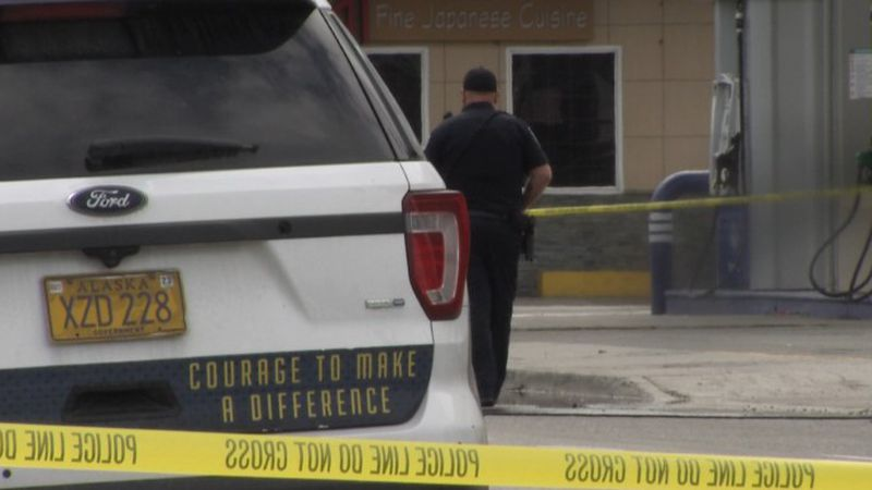 Police officer on the scene of Saturday's shooting in downtown Anchorage