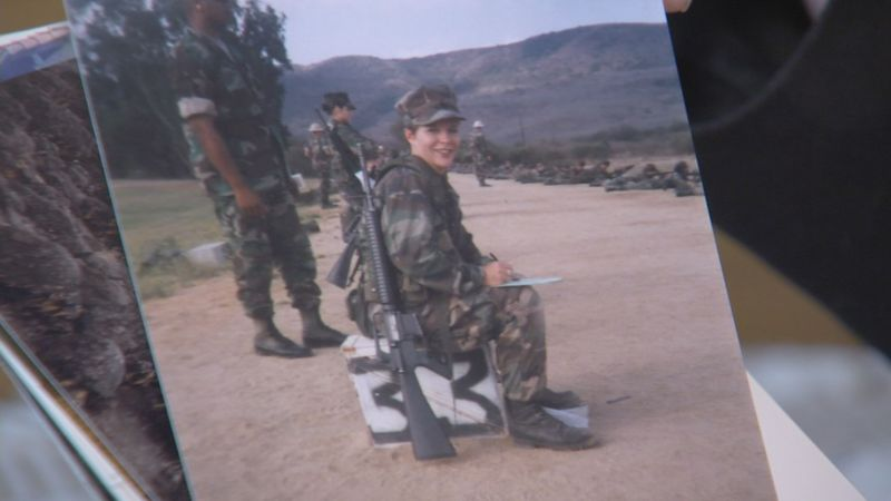 Penney Champney joined the Marines in 1995