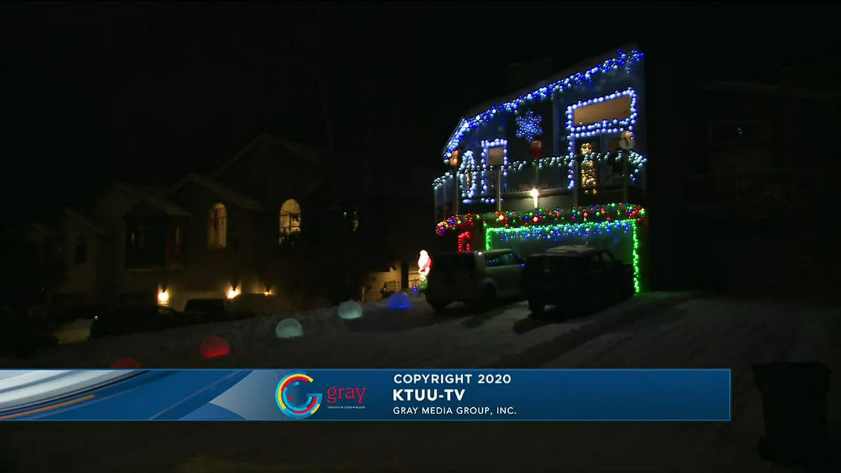 Check out the lights at 3201 Khyber Circle.