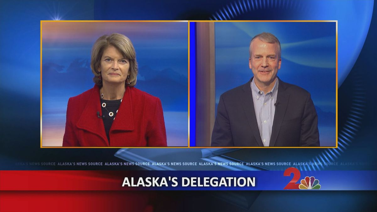 U.S. Sens. Lisa Murkowski and Dan Sullivan on the KTUU Newshour, Feb. 22, 2019 (KTUU)