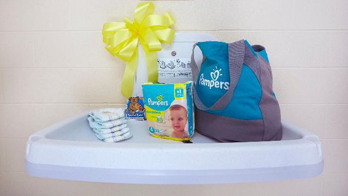 """Pampers recently installed a diaper changing table at the Price Hill Recreation Center in Cincinnati as part of its """"Love the Change"""" campaign. (Source: Pampers)"""