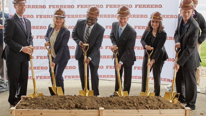Ferrero breaks ground on its first chocolate processing facility in Bloomington, IL, its first...