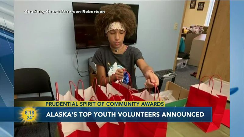 Cenna Peterson-Robertson handed out more than 500 goody bags during the pandemic to raise...