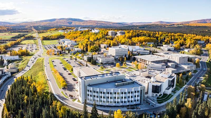 A view of University of Alaska campus.