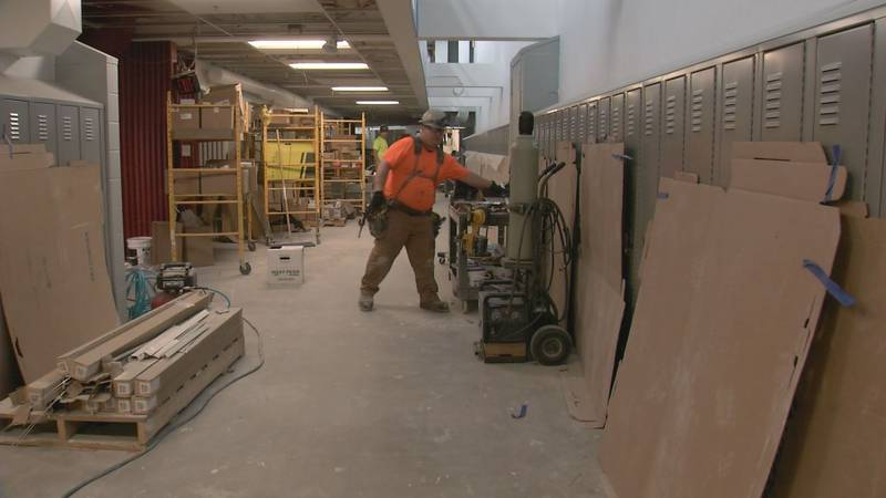Earthquake repairs to Gruening Middle School are nearly complete