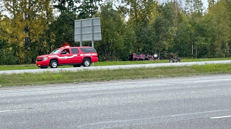Two people are in the hospital with life-threatening injuries after an SUV rolled over on the...