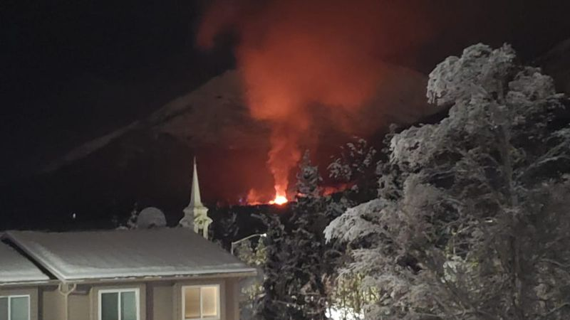 Photo of a fire in Eagle River taken by Justin Hatton.