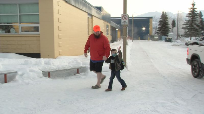 Students at Nunaka Valley Elementary go back to school.