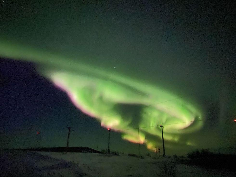 Aurora over Unalakleet, AK. Linda Cooper 4-7-21