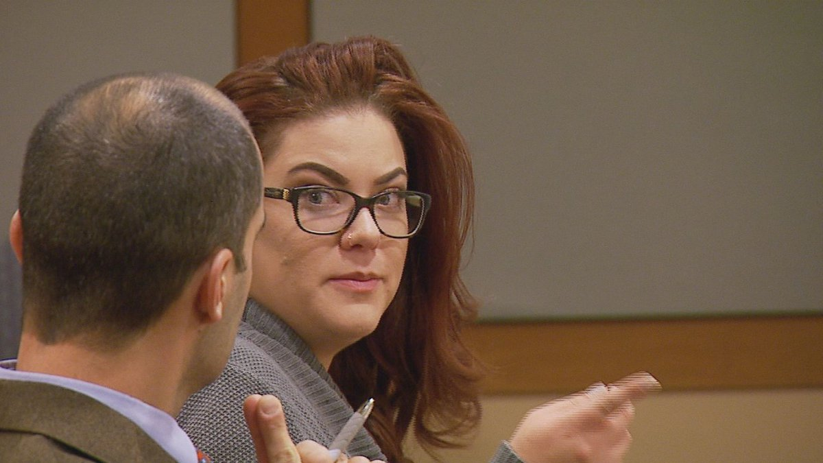 Brittany Robinson at her sentencing on Oct. 20, 2016. Photo by Mike Nederbrock/KTUU.