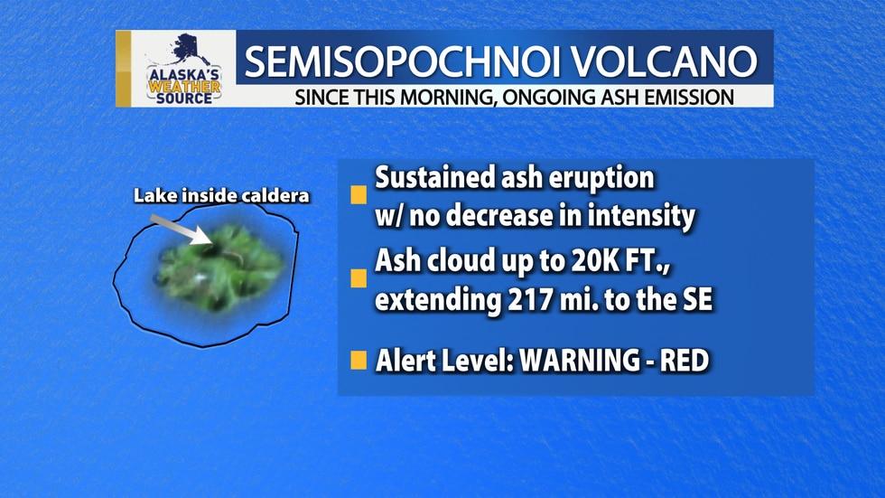 Alaska Volcano Observatory raises alert level for Aleutian Islands volcano emitting ash