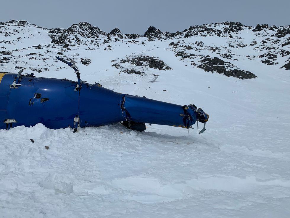 Photo from the crash site near Knik Glacier.
