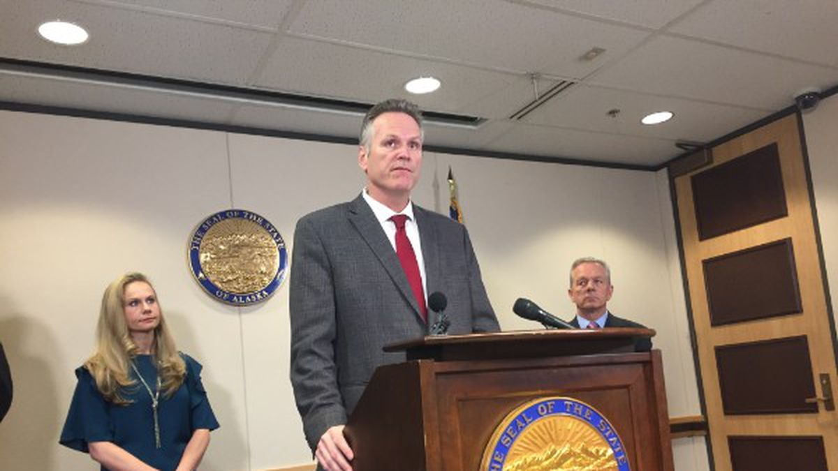 Gov. Dunleavy speaks at a press conference on Sept. 27, 2019.