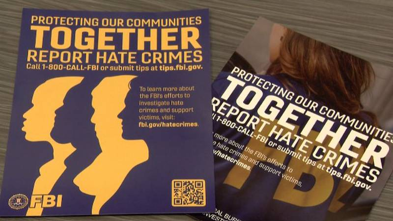Posters from new FBI program aimed to encourage Alaskans to report hate crimes.