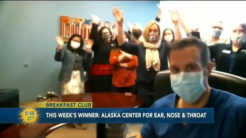 This week's breakfast club winner is Alaska Center for Ear, Nose & Throat.