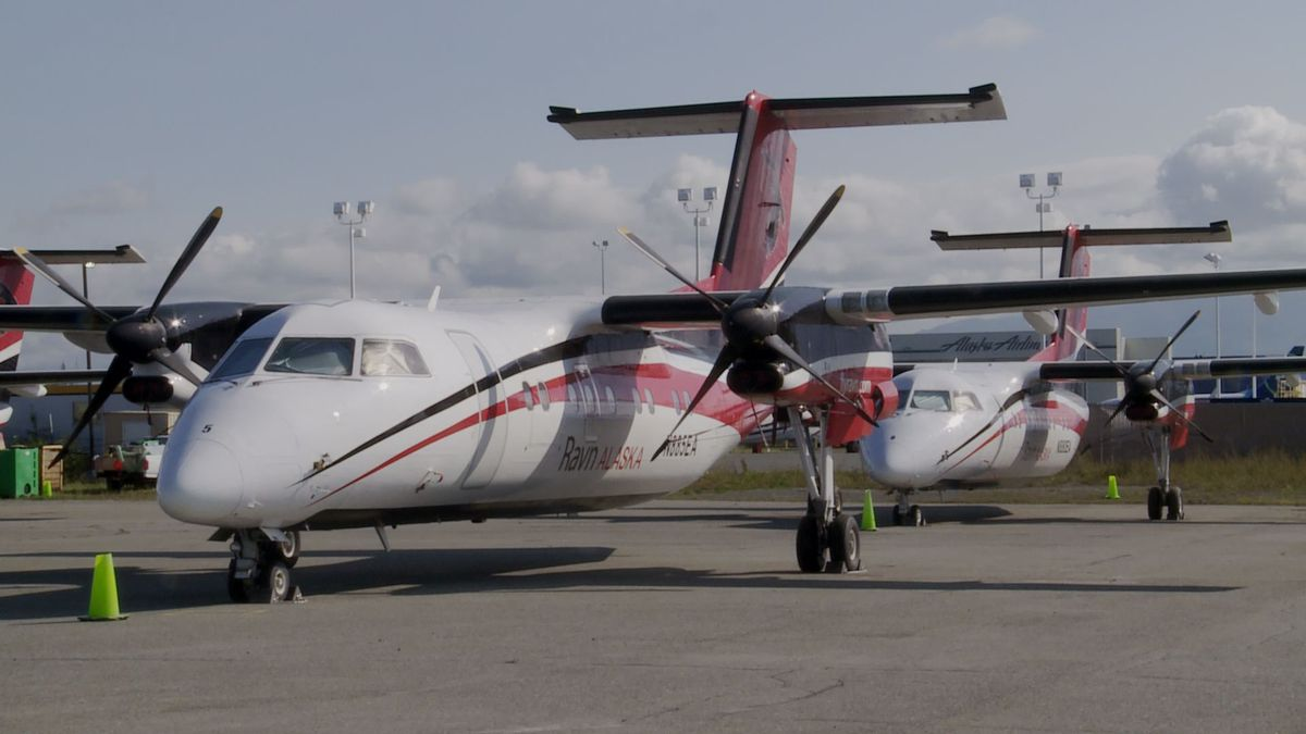 This particular sale of some of Ravn Air group's assets includes several Dash-8s, and a Saab 340. (KTUU)