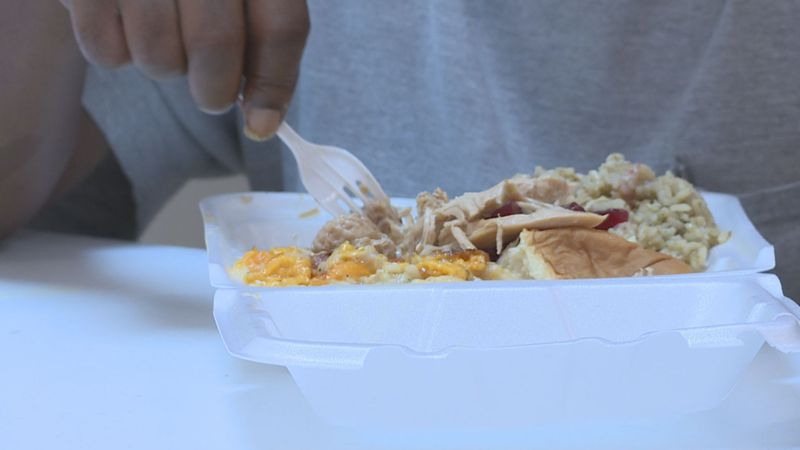 Nonprofits spent the day giving out meals to those in need.