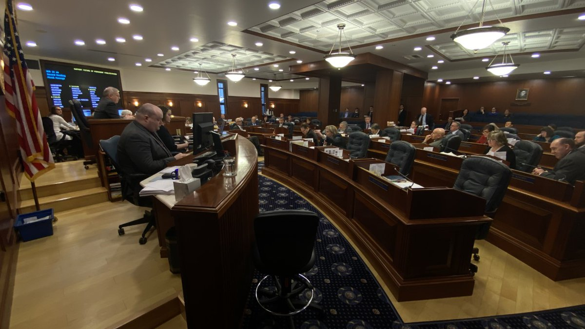 The Alaska House of Representatives passes a resolution during the state's 31st legislative...