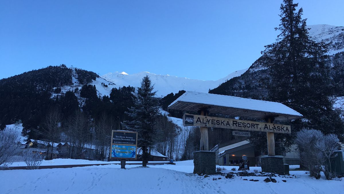 Alyeska on the day prior opening for the 2016-2017 season