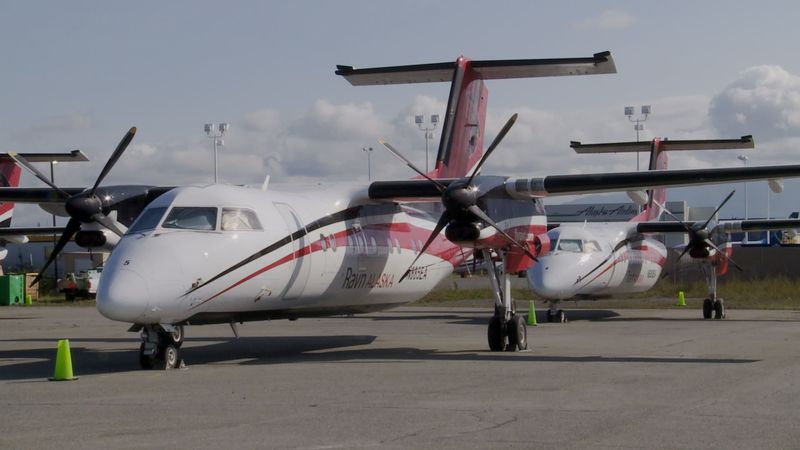 This particular sale of some of Ravn Air group's assets includes several Dash-8s, and a Saab...