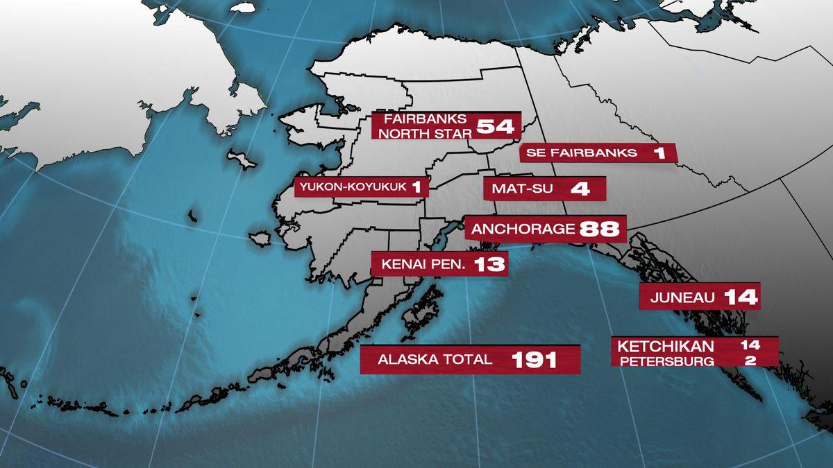 Alaska COVID-19 case count as of Monday, April 6, 2020 according to Alaska Department of...