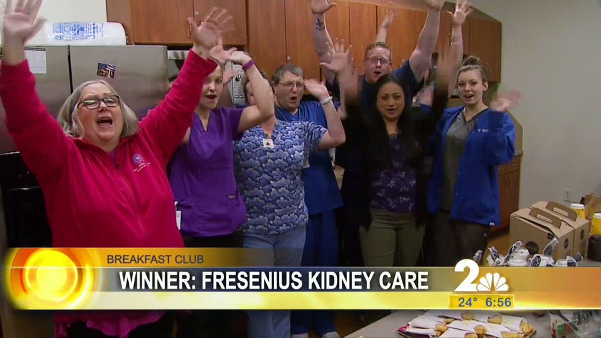 This week's Breakfast Club visit was to Fresenius Kidney Care.