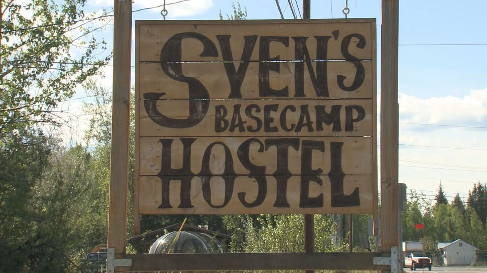 Sven's Basecamp Hostel provides lots of different sleeping arrangements, but one of the options...