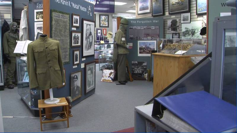 Some of the displays at Anchorage's Alaska Veterans Museum.