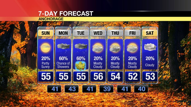 Don't rule out some rain showers overnight Saturday before the sun makes an appearance on Sunday