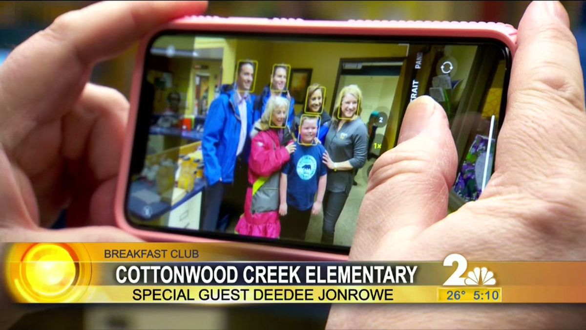 Breakfast Club winners, Cottonwood Creek Elementary in Wasilla with special guest DeeDee...