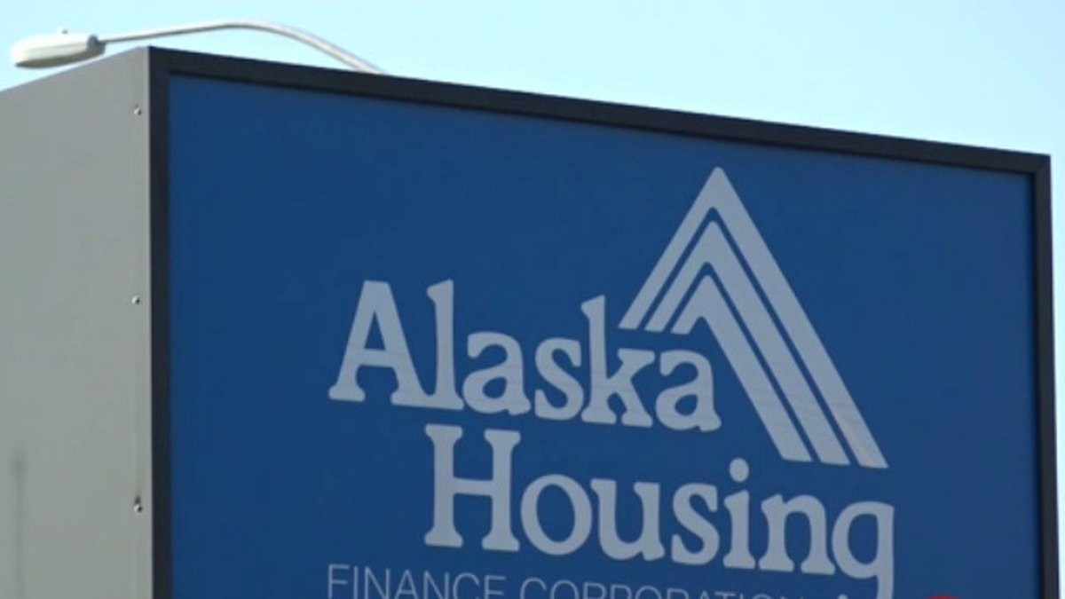 The sign outside the Alaska Housing Finance Corporations Family Investment center