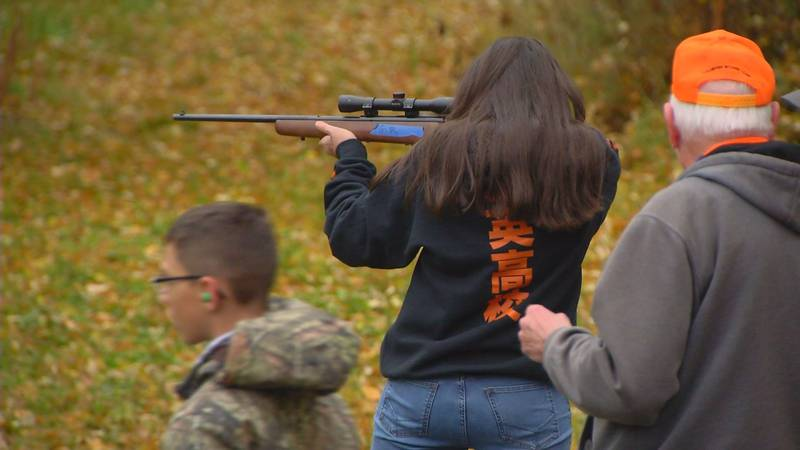 Students from Wasilla Middle School get hands on gun handling safety training with volunteer...