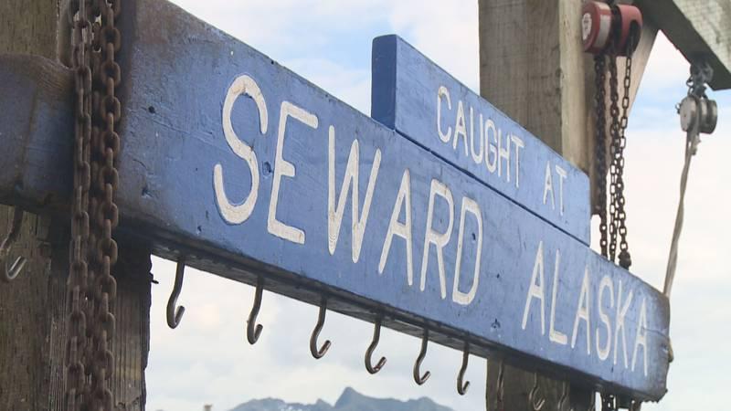 A sign at the Seward Boat Harbor.