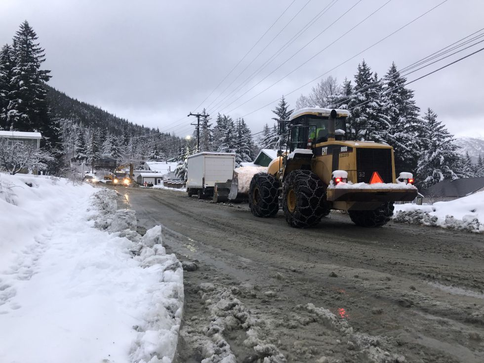 Road conditions in Haines, Alaska