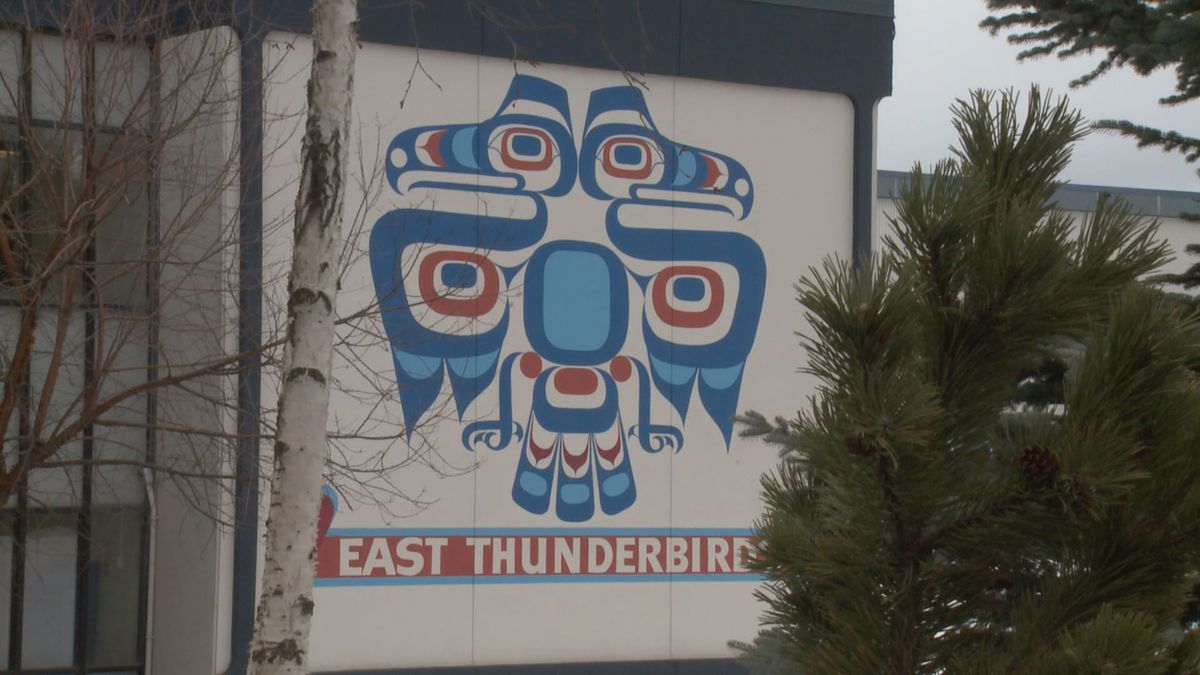 East Anchorage High School Thunderbird.