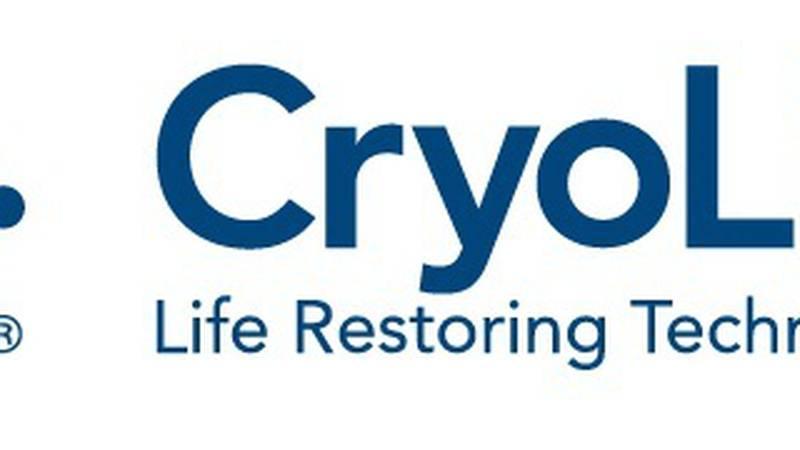 Cryolife logo. (PRNewsFoto/CryoLife, Inc.) (PRNewsFoto/CRYOLIFE_ INC_) (PRNewsFoto/CRYOLIFE,...