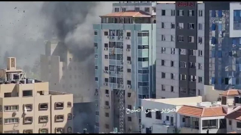 Israeli airstrike destroys Gaza building housing AP and Al Jazeera offices, among others....