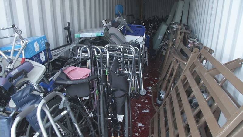 Tina Ervin collects used medical equipment and supplies and gives them away for free through...