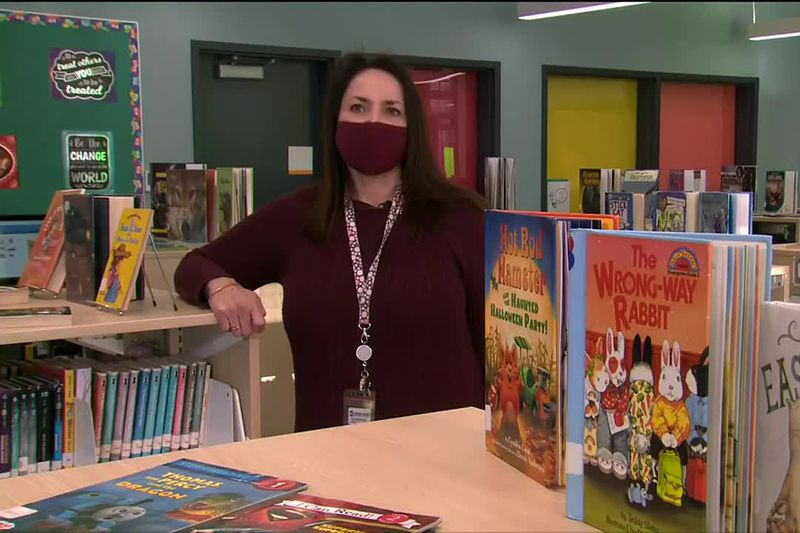 Julianne Luce, a librarian at Dena'ina Elementary School, was nominated for State School...