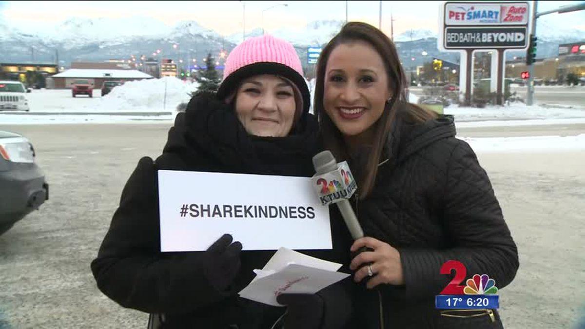 Channel 2's Ariane Aramburo and Laneea Naufahu after their #sharekindness moment.
