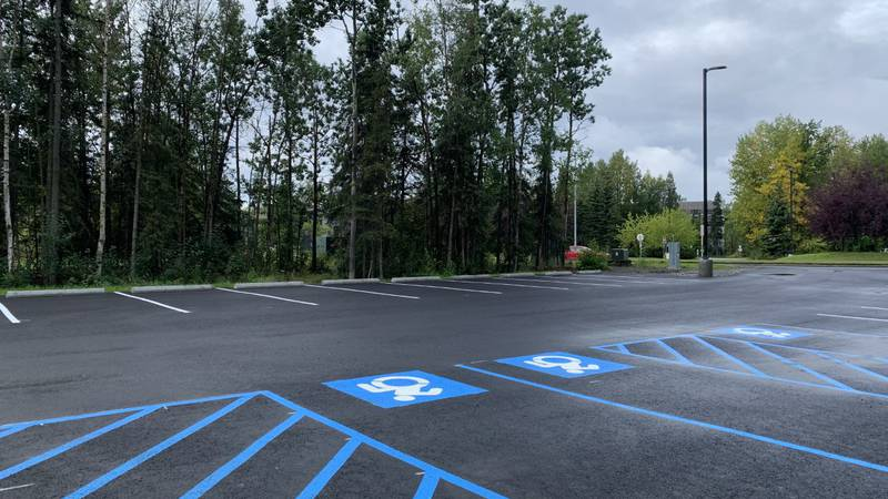The University Lake parking lot now has 50 spaces
