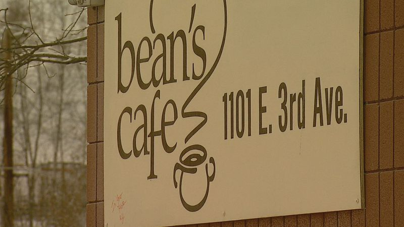 Bean's Cafe sign