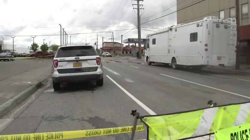 Scene of Saturday's shooting in downtown Anchorage