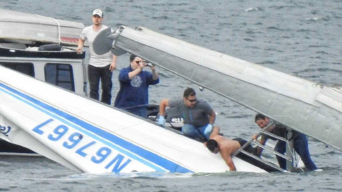 Metlakatla Float Plane Crash Courtesy: Aerial Leask