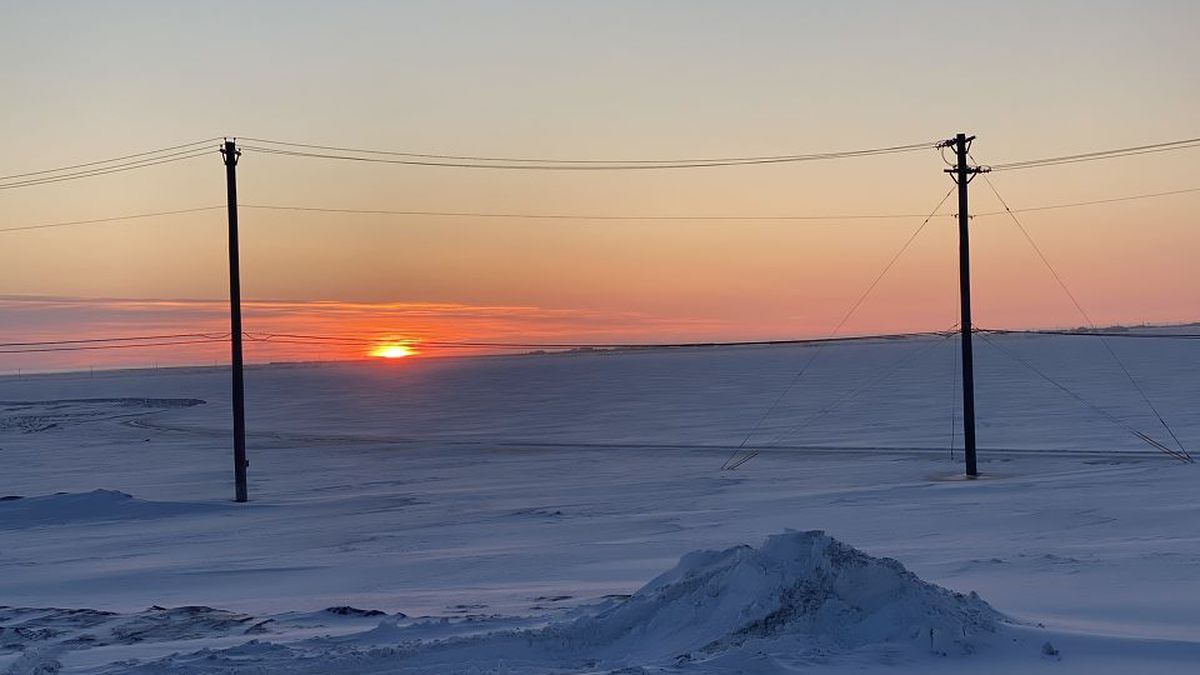 Last sunset for Utqiagvik this year, with the sun not rising again until January 22, 2021