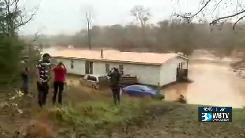 At least 31 campers were rescued from flooding at the Hiddenite Family Camp Ground in North...