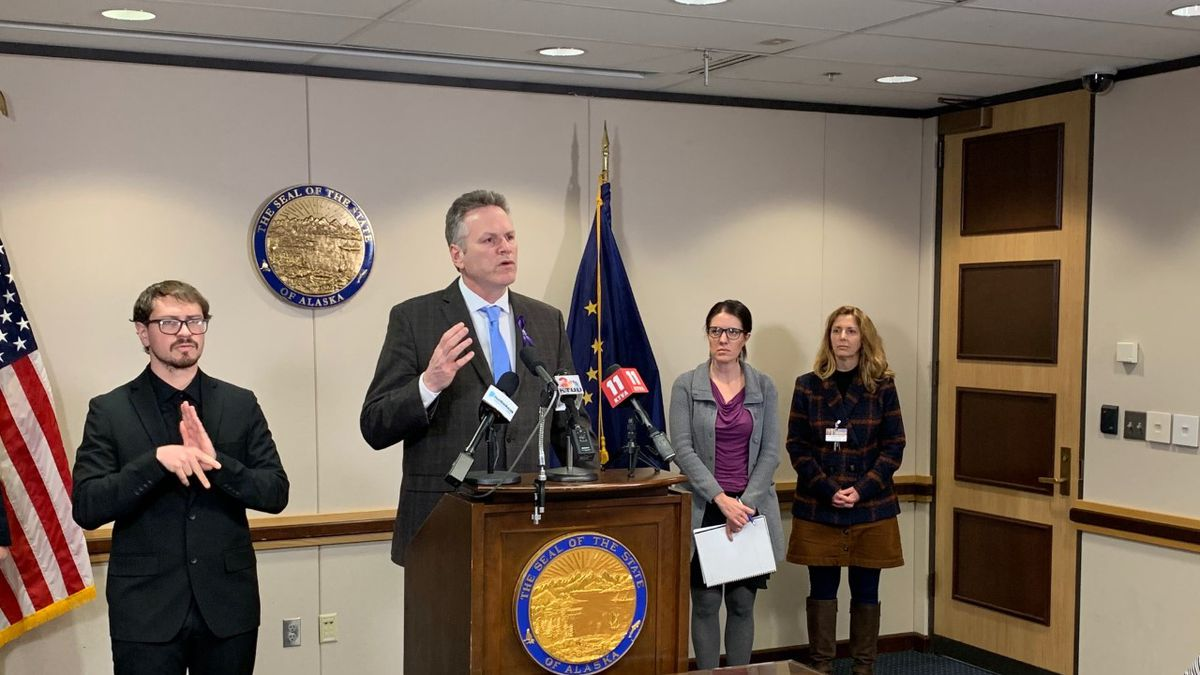 Gov. Mike Dunleavy announced Thursday that the state has seen its first positive case of COVID-19 the novel coronavirus. (KTUU)